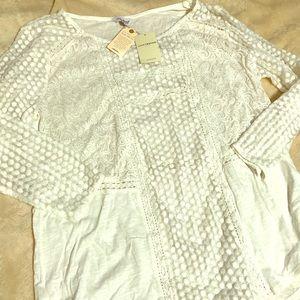 Lucky Brand sheer blouse